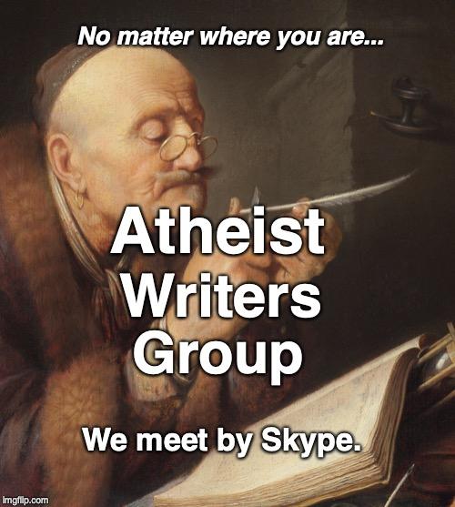 Atheist Writers Group, We meet by Skype